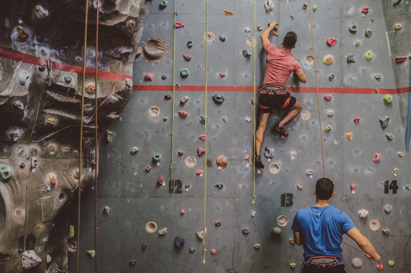 climbing wall - delegates offer